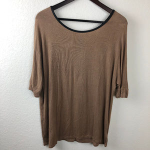 Heart & Hips Womens Top, Brown Small